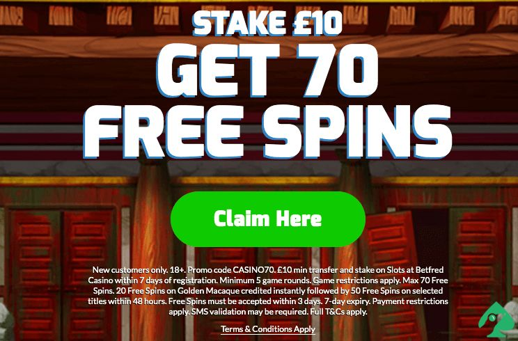 BetFred Casino free spins