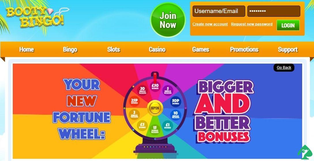 Booty Bingo welcome bonus