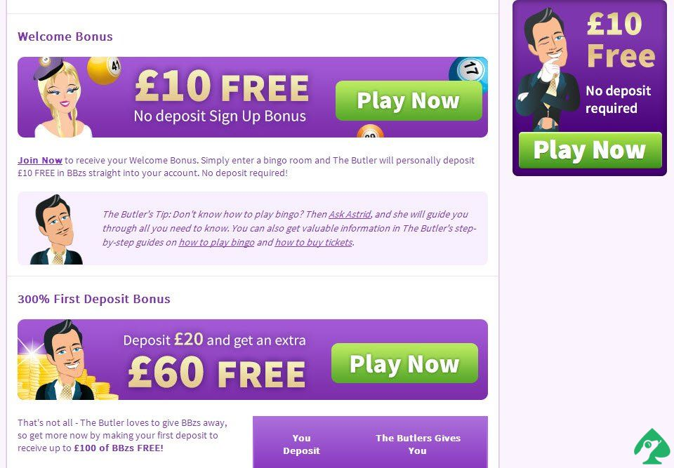 Butlers Bingo Promo Codes