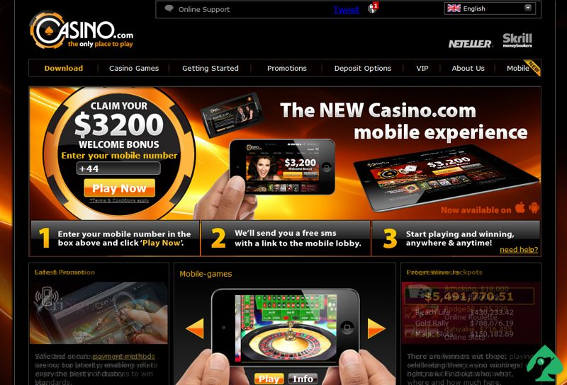 Casino.Com Bonus Code