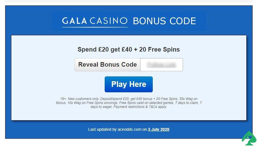 activate your bonuses in Gala Casino
