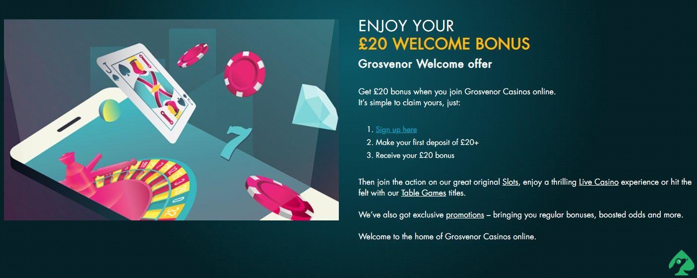 Grosvenor Casino bonuses