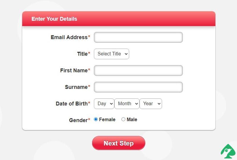 Register an account at Heart Bingo