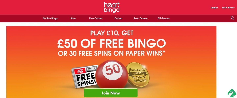 Heart Bingo bonuses