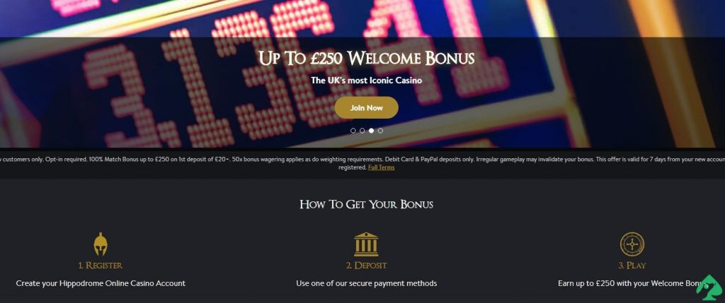 Hippodrome Online Casino Bonus Codes 2021