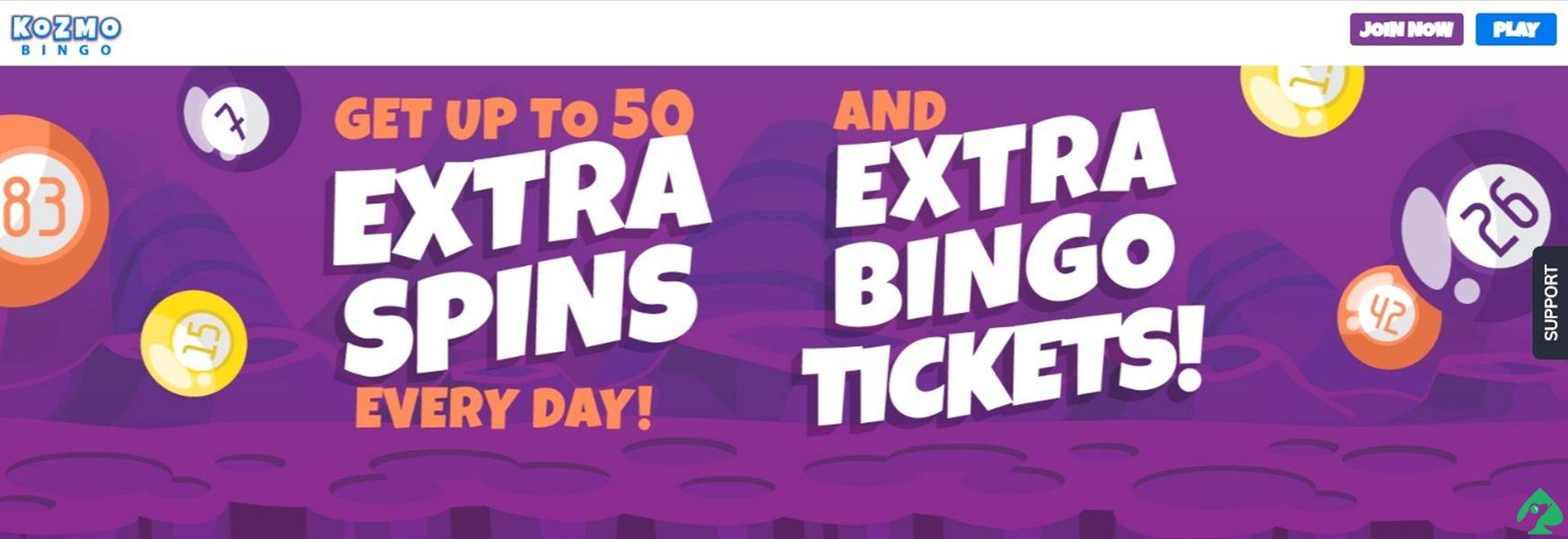 Kozmo Bingo Welcome Deposit Bonus
