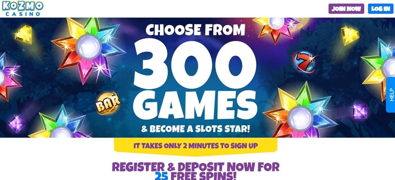 kozmo casino bonus codes