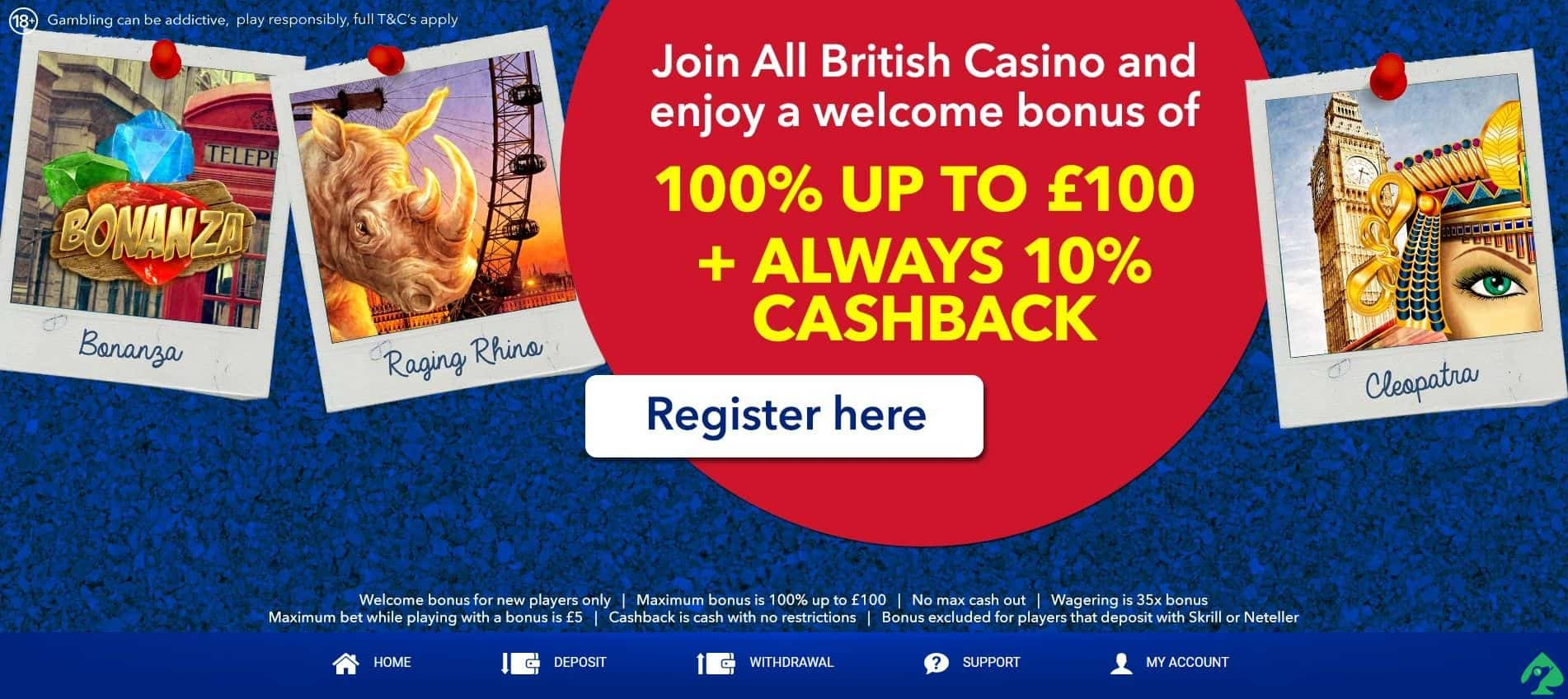 allbritishcasino.com Cashback Bonus