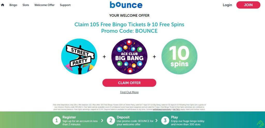 bounce bingo bonus code