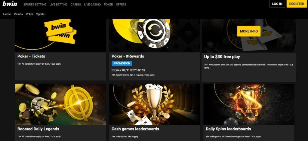 bwin casino bonuses & opening offer