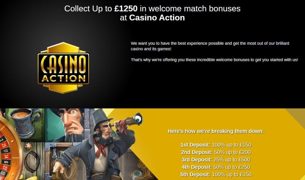 casino action match bonuses