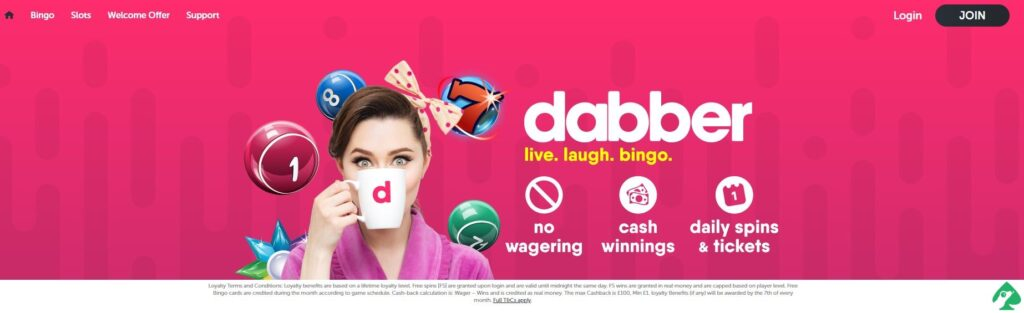 dabber bingo website discount code