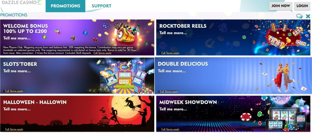 dazzle casino promotions