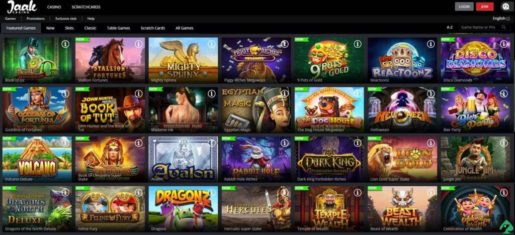 jaak casino sign up bonus games