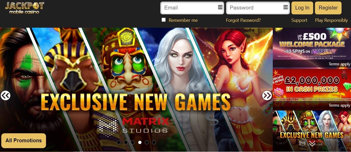 Jackpot Mobile Casino Bonus Codes 2021