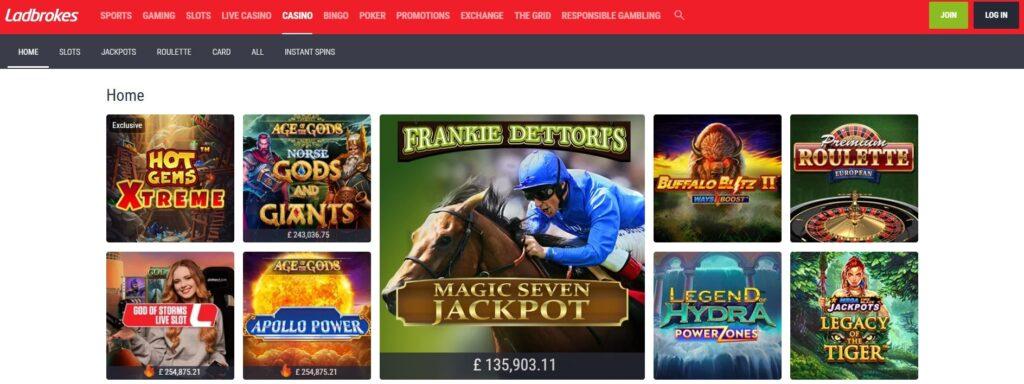 ladbrokes casino main page