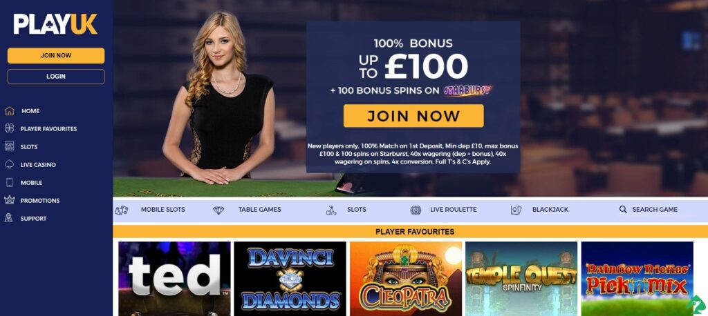 playuk casino bonuses