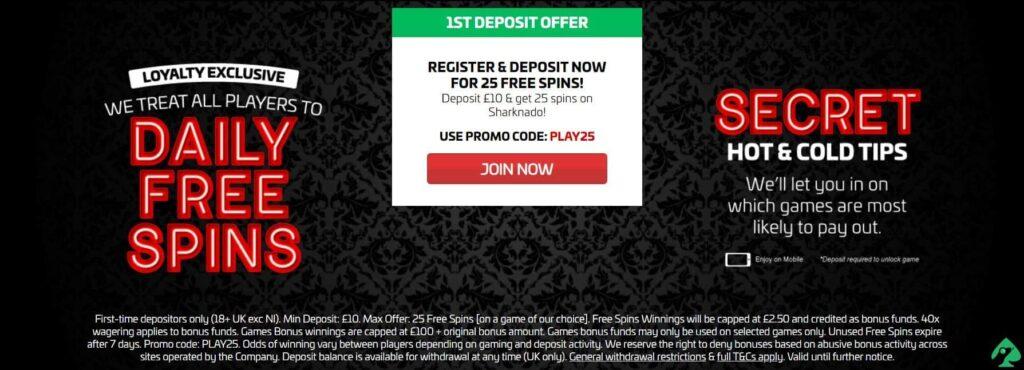 secretslots.com bonuses