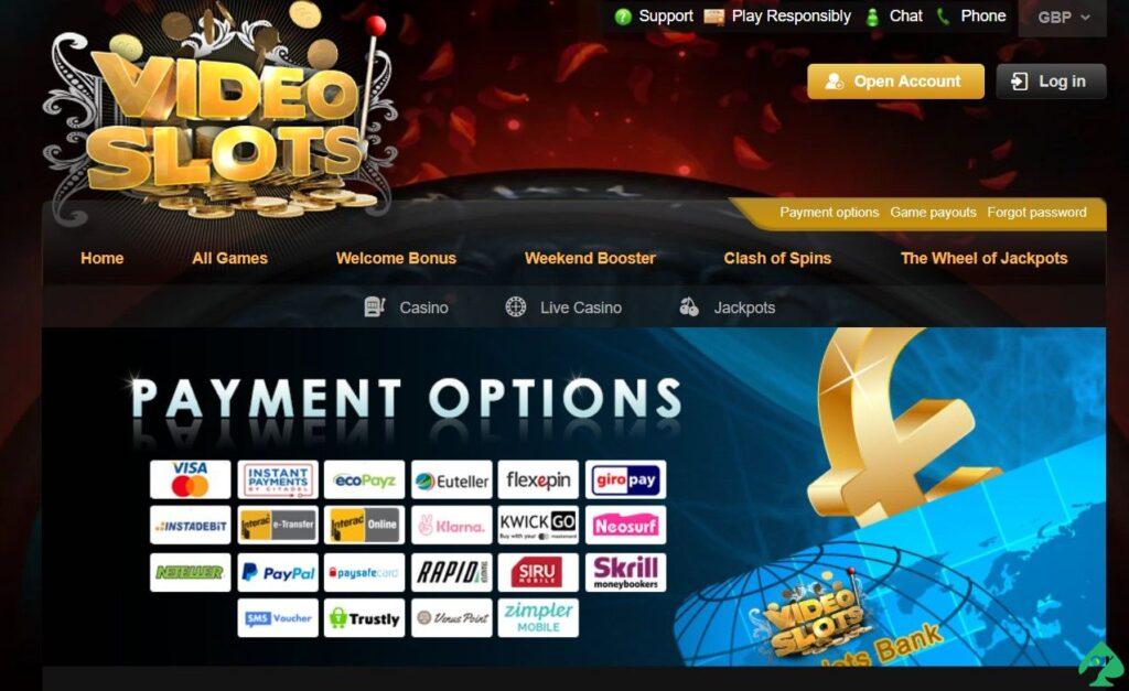 videoslots.com payment
