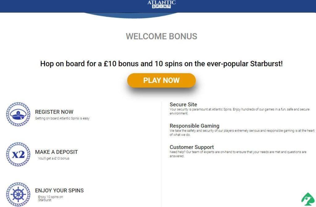 atlanticspins welcome bonus