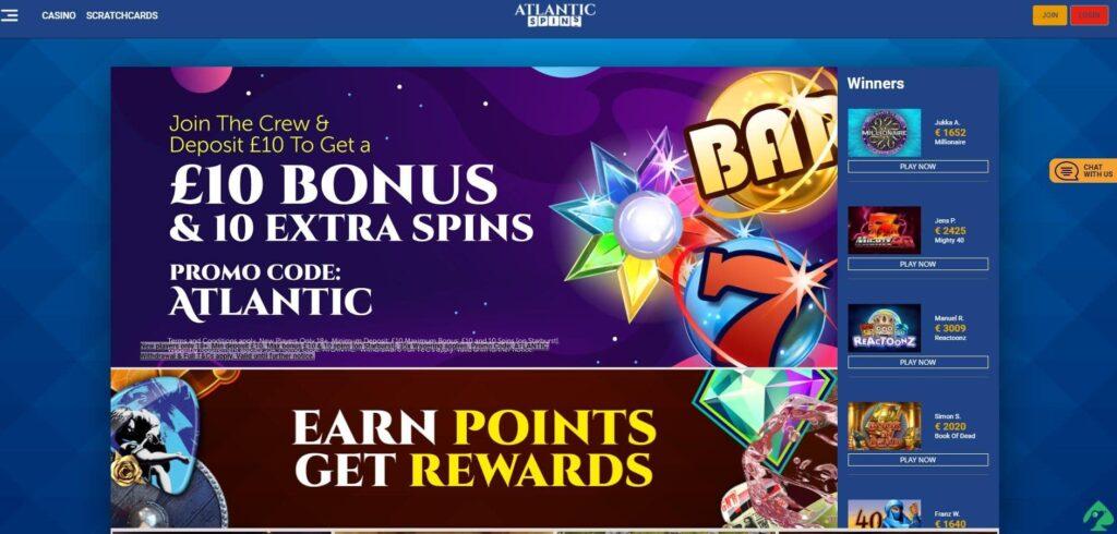 atlanticspins.com bonus promo codes