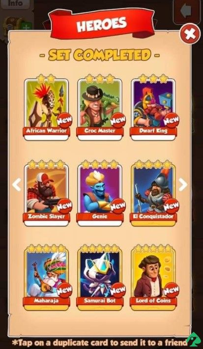 coin master card collections
