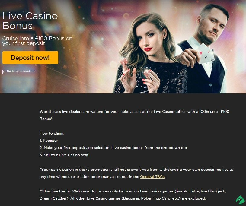 cruise live casino first deposit bonus