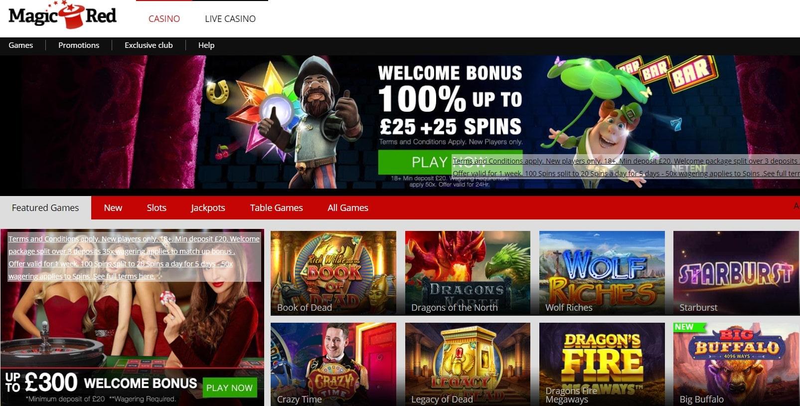 magic red casino sign up bonus codes & promotions