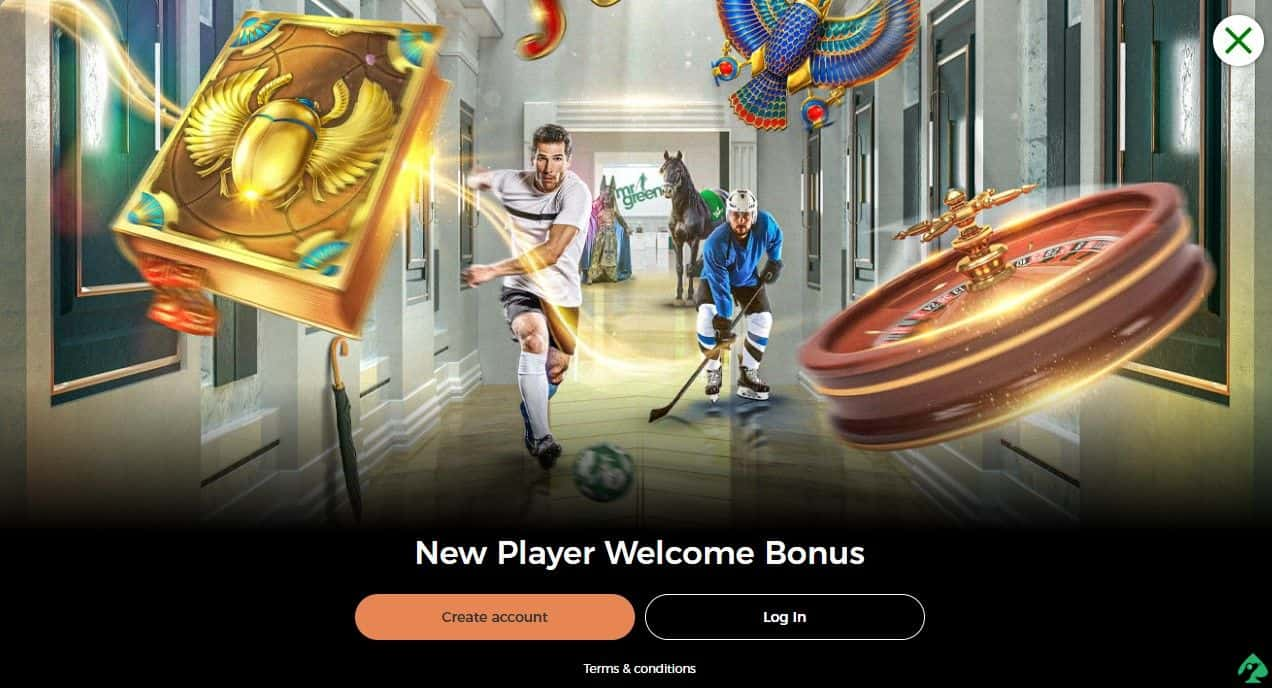 mr green online casino bonus code