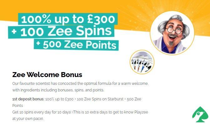playzee.com welcome bonus