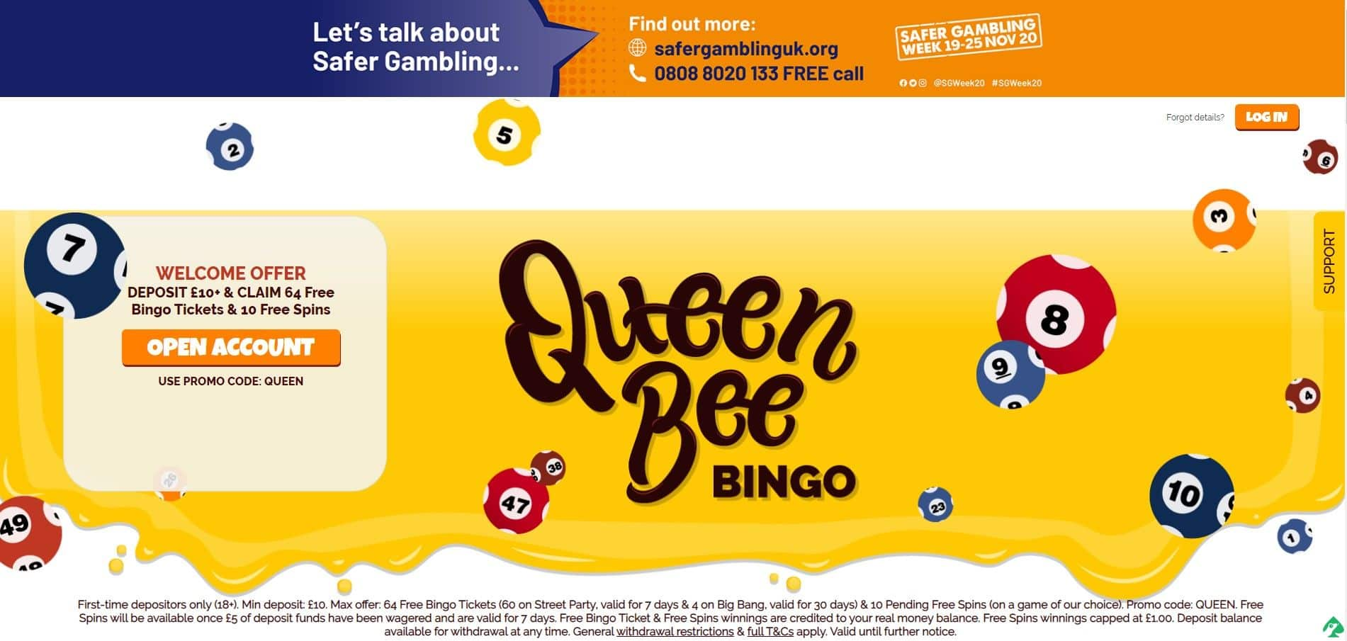 queen bee bingo discount bonus codes