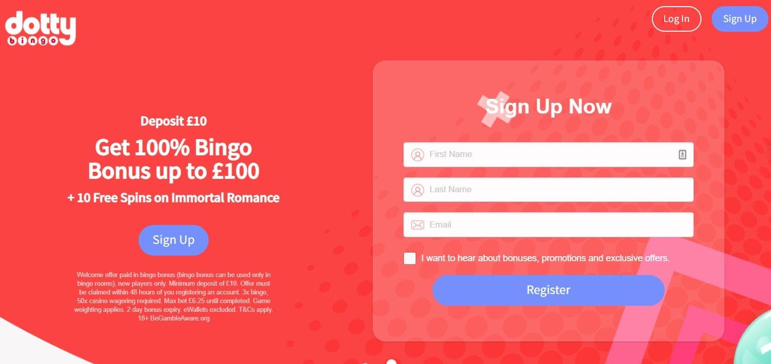 dotty bingo welcome offer