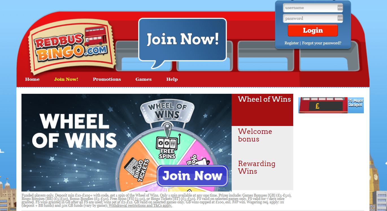Redbuss bingo bonuses
