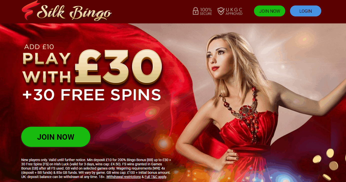 Silk Bingo promo codes