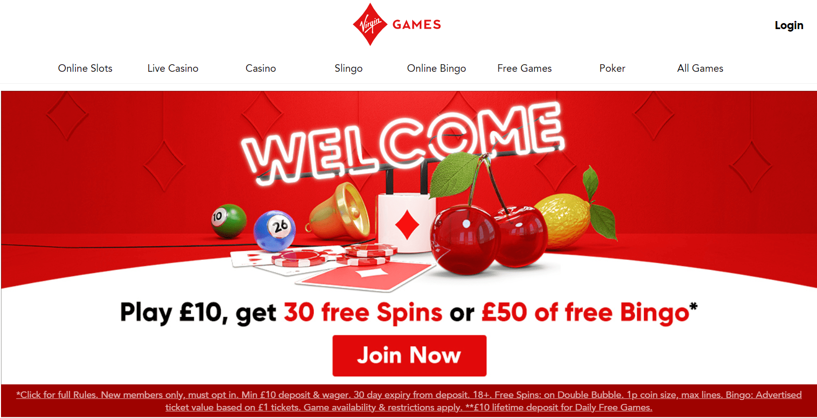 virgin games bonuses