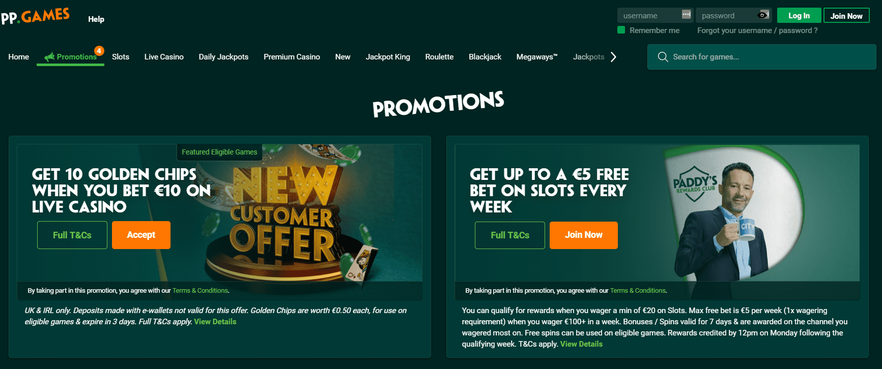PaddyPower promotions