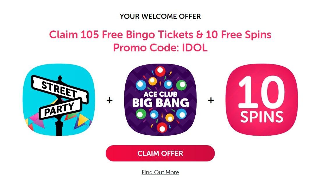 bingo idol welcome bonus