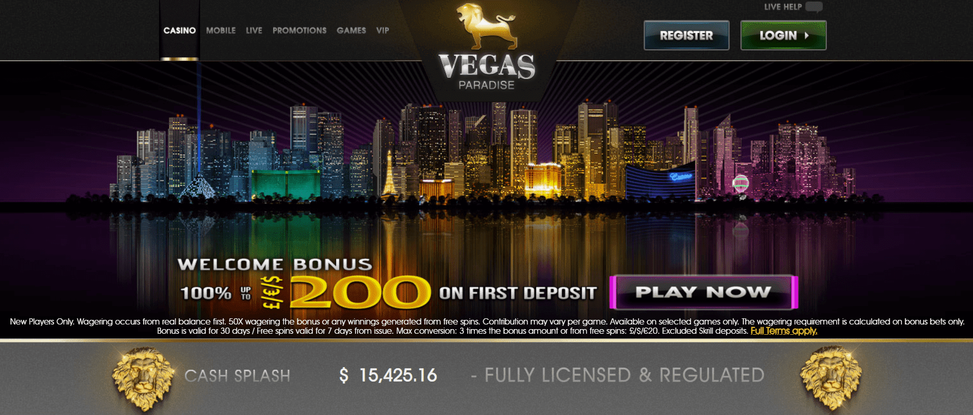 VegasPaaradise Promotion
