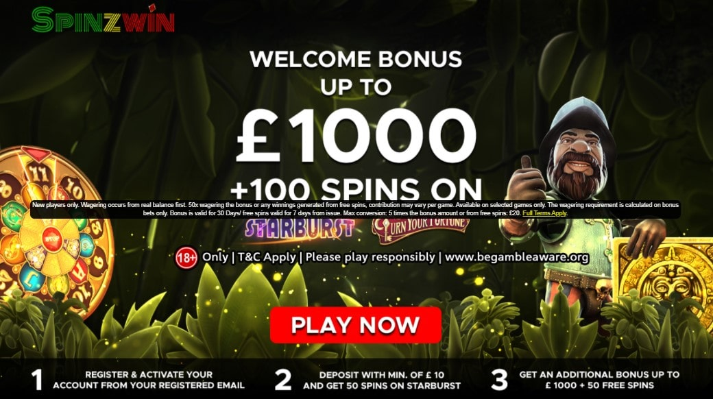 spinzwin welcome offer