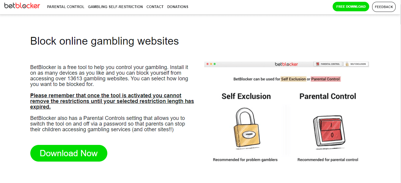 BetBlocker is a free tool to help you control your gambling
