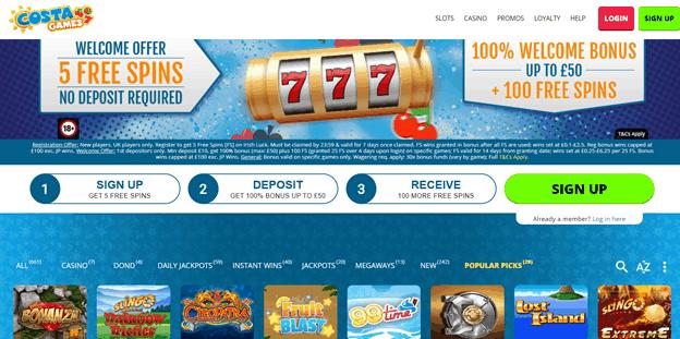 Casino CostaGames bonuses