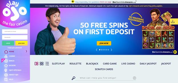 PlayOJO Casino Bonuses