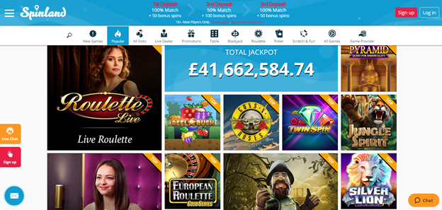 Spinland Casino Promotions