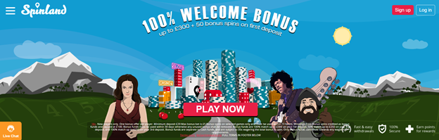 Spinland Casino Welcome offer