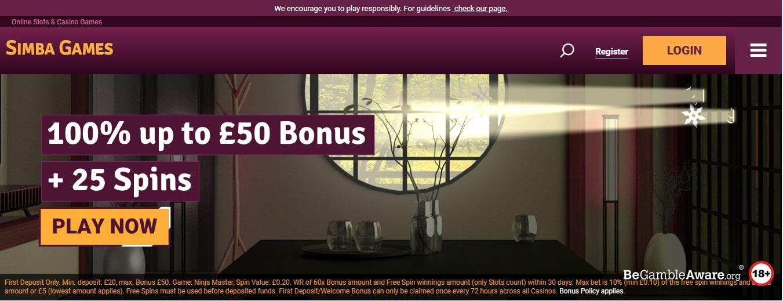 Casino Simba Games Bonuses