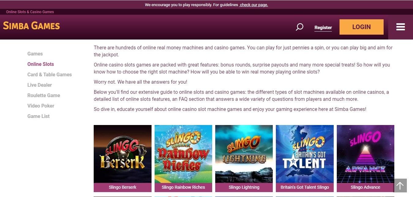 Simba Games Variety