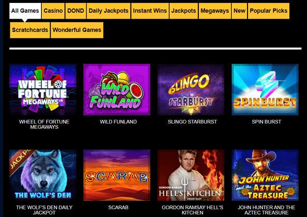 Sky High Slots Casino games