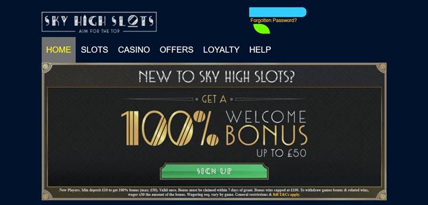 SkyHigh Slots Bonus