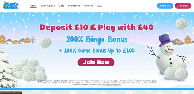 SnowyBingo casino promotions