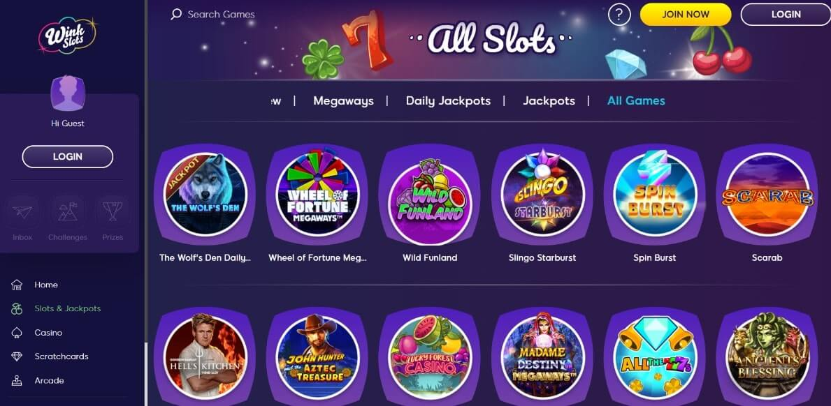 wink slots games